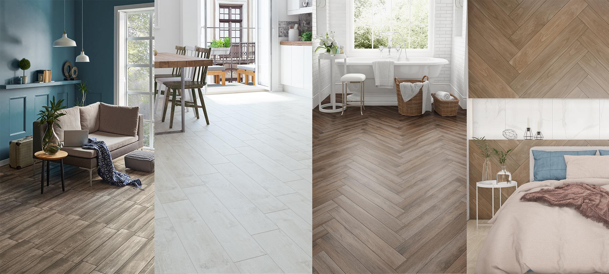 Wood design tiles